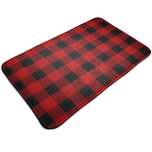 Gesdoyzi Red Black Buffalo Check Plaid Home Doormats Rubber Doormat Decorative Rug Indoor/Bathroom Funby Welcome Mat 5080Cm ()