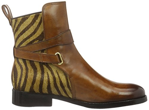 Melvin&Hamilton Lauren 1, Zapatillas de Estar por Casa para Mujer Beige - Beige (Crust Tan/ hairon Zebra/hRS)