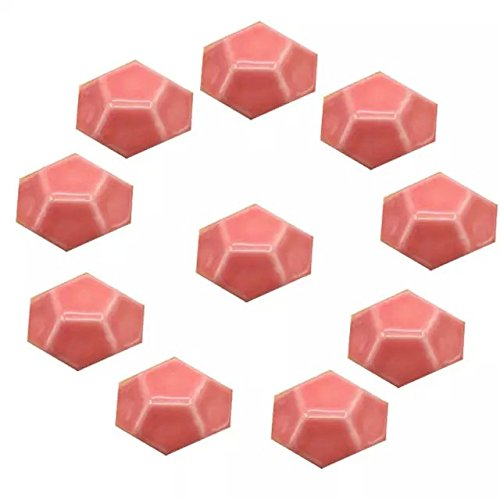 CSKB PINK 10 PCS 40mm Turtle Shell-shaped Ceramic Door Knob Pure Color Handle Pull For Cupboard/Cabinet/Wardrobe/Drawer/Bathroom 8 Colors Available ()