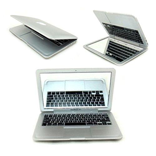 Mini faux Apple iPad / MacBook Air Notebook Tablet Beauty Make-up kosmetische Taschen Gesicht Compact Mirror von KingOfHearts-Silber CJ09
