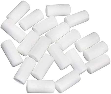 dailymall 40個62mm 88mm DIYホワイトモデリングポリスチレン発泡スチロールフォームシリンダーDIYホームオーナメント子供ギフトウェディングパーティーデコレーションアクセサリー