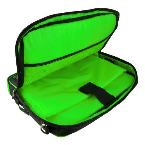 VanGoddy Pindar Messenger Carrying Bag for Samsung Galaxy Note PRO 12.2/Samsung Galaxy Tab PRO 12.2'' Tablets + Bluetooth Keyboard + Headphones (Green) by Vangoddy (Image #6)