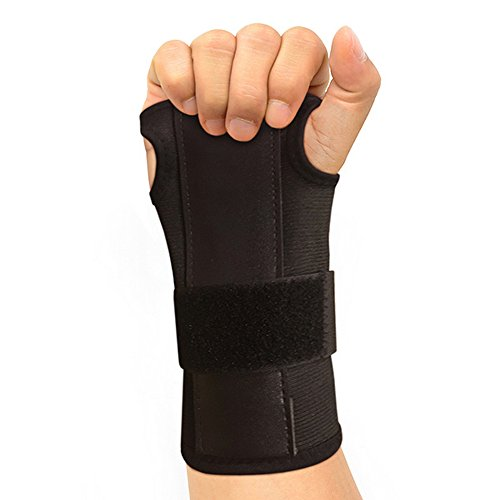 Carpal Wrist Support (Carpal Tunnel Solutions Daytime Wrist Brace - RELIEF For Carpal Tunnel, RSI, Cubital Tunnel, Tendonitis, Arthritis, Wrist Sprains. Support Recovery & Feel Better NOW. (1 Brace Fits Both Hands))