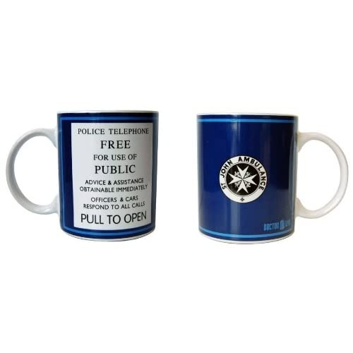 Underground Toys Doctor Who Tardis Travel Coffee Mug, 11 oz