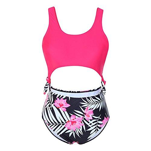 9 Size trasparente snellente Donna Bikini pezzo Swimsuit 4xl Big 1 Fiorito Feelingirl S Sexy Monokini fvY86w8n