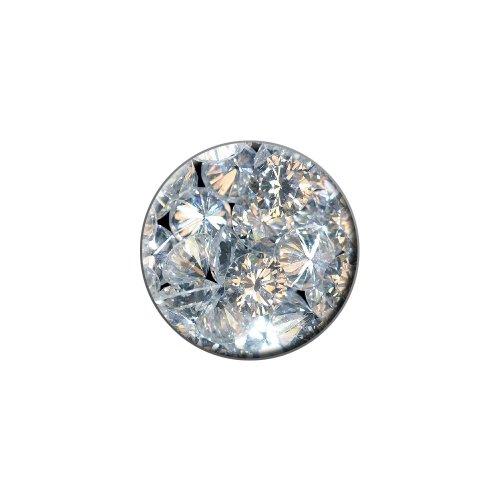 Loose Diamonds (Image Only) - Metal Lapel Hat Pin Tie Tack Pinback
