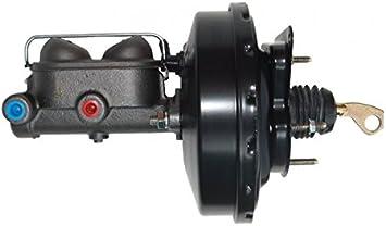 1 in bore master cylinder disc//drum GPS Automotive 03471-9 in power brake booster with bracket Bottom mount valve Black