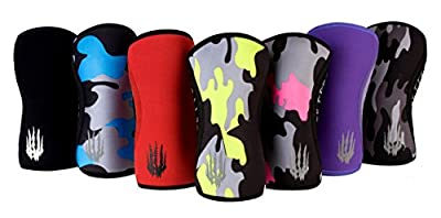 Bear KompleX Knee Sleeves (Sold AS Pair) for Cross Training, Weightlifting, Wrestling, Squats, ETC. Compression 5mm & 7mm Thick