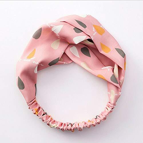 Women Suede Headband Bohemian Cross Knot Elastic Hairband Headwear Head Wrap 1Pc (Color - Sweet-pink)