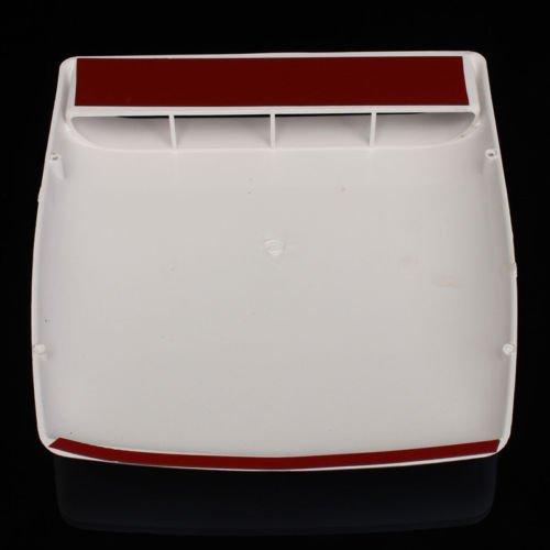 Wei/ß Universal Auto dekorative Air Flow Lufteinlass Lufthutze /Öffnung Motorhaube,
