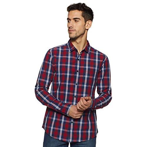 41ES5EW7MGL. SS500  - Amazon Brand - Symbol Men's Checkered Regular Fit Casual Shirt