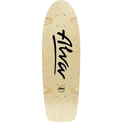 Alva Bela Reissue Deck -8.5x27 Natural/Black Assembled as COMPLETE Skateboard