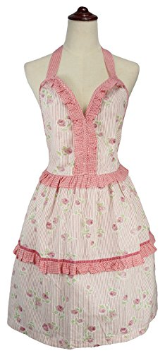 LilMents Floral Sweetheart Highlight Ruffles Kitchen Fashion Apron