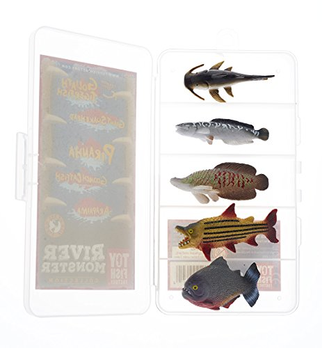 (Toy Fish Factory Piranha Toy | Toy Catfish | Amazing Fish Set | Finest Collector/Travel Case | River Monster Collection | Fish Toy Figurines)