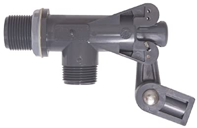 "Kerick Valve PT100SS PVC Float Valve, Tank Mount, 60 gpm at 60 psi, 1"" NPT Male from Kerick Valve"