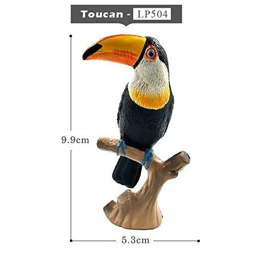 DIY Simulation Toucan Cockatoo Animal Model Bird Parrot Figurine Home Decor Miniature Fairy Garden Decoration Accessories Modern,Toucan