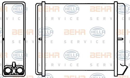 BEHR HELLA SERVICE 8FH 351 313-671 Radiador de calefacción: Amazon.es: Coche y moto