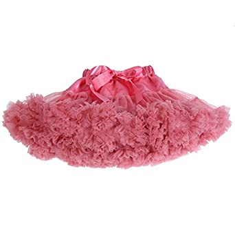 Tortoise Rabbit Baby Girls Fluffy Ballet Pettiskirt Tutu Skirt XS Coral