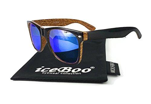 pattern iceBoo soleil W6003 Homme Lunettes grain de Wood 7r471S