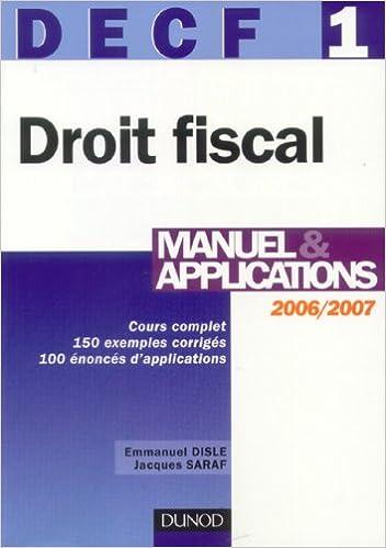 Téléchargeur de livres pour pc Droit fiscal DECF 1 : Manuel & application PDF ePub MOBI 2100499254