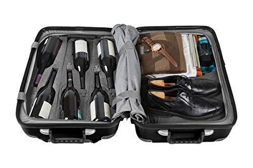 Vin Garde Valise Grande (Standard Size)   Wine Travel Suitcase   All-purpose Luggage   Up to 12 Bottles