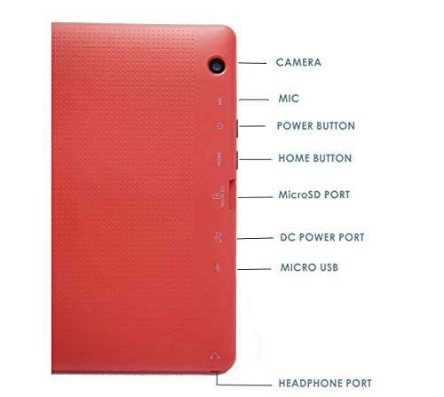 10.1 inch Android 8.1 Oreo HD Tablet by Azpen, GMS Google Certified, Bonus- Bluetooth Keyboard, Case and Stand Included (RED)