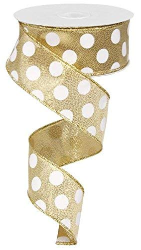- Polka Dot Wired Edge Ribbon (1.5