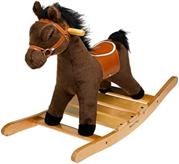 Melissa Doug Plush Rocking Horse Wooden Base And Handles Plus Saddle And Harness