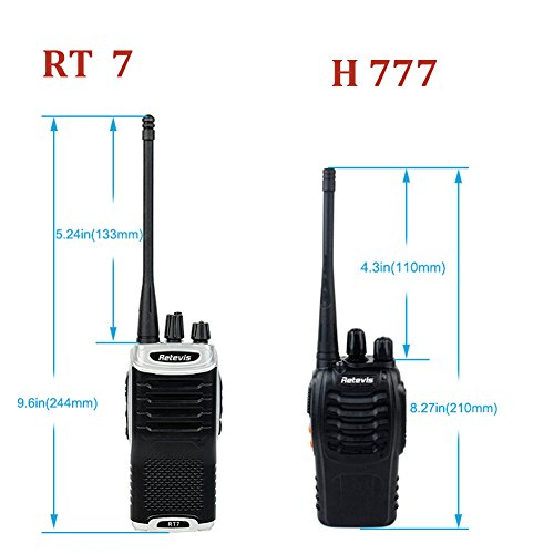 Retevis RT7 Walkie Talkies Rechargeable UHF 400-470MHz 3W 16CH Two Way Radio with Earpiece(20 Pack) and Programming Cable by Retevis (Image #1)