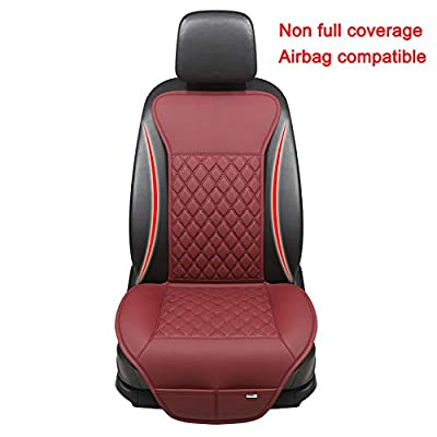 Black Panther Car Seat Cover, Luxury Car Protector,Universal Anti-Slip Driver Seat Cover with Backrest, Diamond Pattern Embroidery (1Piece,Wine Red): Automotive