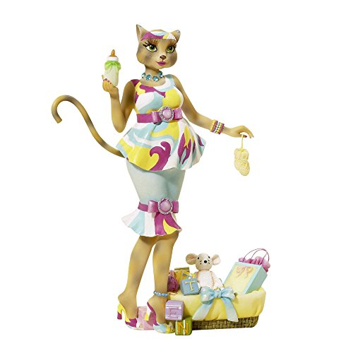 Kurt Adler Alley Cats Resin Katty Diva New Mommy Tablepiece, 8-Inch