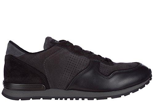 Tods Zapatos Zapatillas de Deporte Hombres EN Ante Nuevo Sportivo Negro