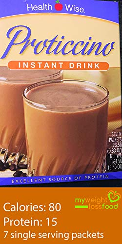 HealthWise Proticcino Instant Protein Drink (Seven Packets)