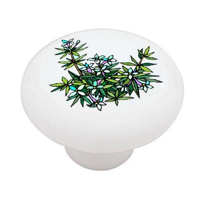 Wildflowers Pull (Wild Flowers Decorative High Gloss Ceramic Drawer Knob)