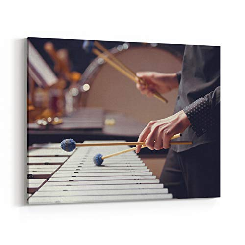 Rosenberry Rooms Canvas Wall Art Prints - Hands of Musician Playing The Vibraphone (10 x 8 inches)