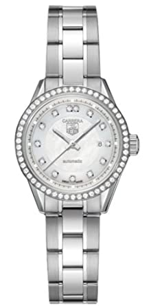 Tag Heuer Women S Wv2413 Ba0793 Carrera Diamond Accented Automatic Watch
