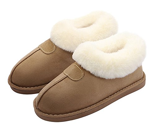 HomyWolf Womens Slippers Fluffy House Slippers Warm Indoor Outdoor Slipper For Winter