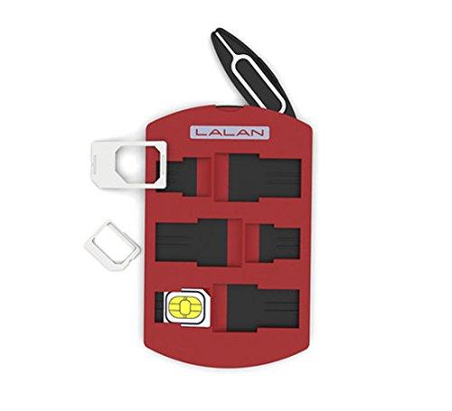 (LALAN SIM Card Holder, Nano SIM,Micro SIM,Mini SIM Storage Case, Including Smartphone Tray Opener Pin)