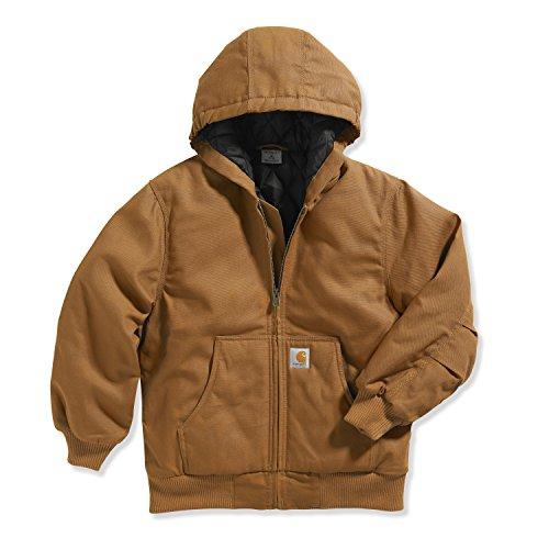 Carhartt Little Boys' Work Active Jacket, Carhartt Brown, X-Small/6