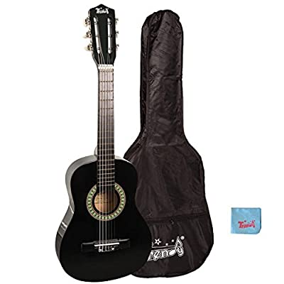 Trendy 30 Inch Classical Guitar (1/2 Size), Package, Basswood, Black