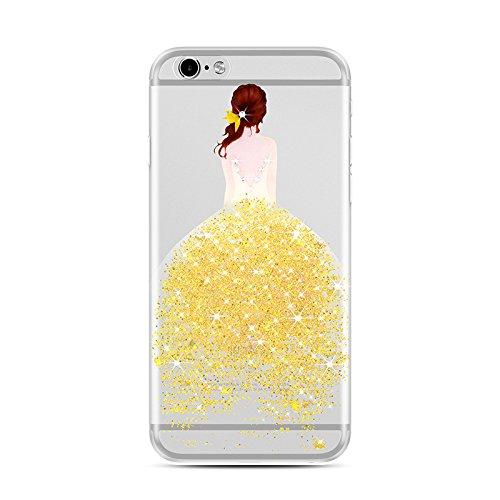 para iPhone 6 Plus Funda - [Ultra Slim] Sunroyal Transparente Funda Carcasa Silicona TPU Suave Gel Shell iphone 6s plus Flexible Bumper Case Shock Protección Gota Anti-Arañazos , Choque Absorción Cásc A-01
