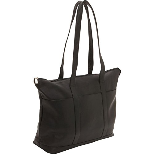 ledonne-leather-double-strap-pocket-tote-bag-black-large