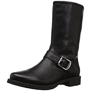 206 Collective Women's Brinnon Moto Boot, Black, 10 B US