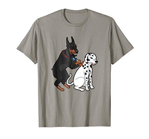 Doberman Tattooing Spots on Dalmatian Funny Dog T-Shirt