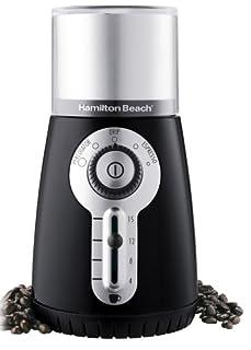 Hamilton Beach 80374 Custom Grind Hands-Free Coffee Grinder, Black (Discontinued) (B000A1FFOK) | Amazon price tracker / tracking, Amazon price history charts, Amazon price watches, Amazon price drop alerts