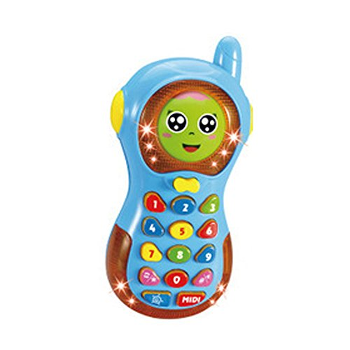 Smart Musical Changing Face Mobile Phone for Kids, Early Education Toys with Music and (Creative Writing Flip Chart)