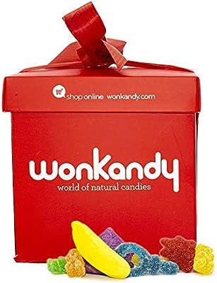 Wonkandy - Caja con Golosinas y Chucherías - Caja chuches surtidas tamaño M, 1kg: Amazon.es: Alimentación y bebidas