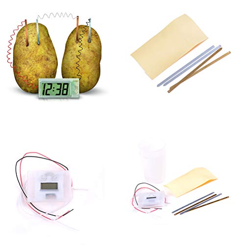 Gags & Practical Jokes - Early Educational Diy Clock Novel Green Science Project Experiment Kit Lab Home School Toy - Kit Kit Printer Mosaic Mount Lcd Toy Clock Model Practical Turning Clock