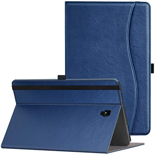 Ztotop Folio Case for Samsung Galaxy Tab A 10.5 Inch 2018(SM-T590/T595/T597), Leather Folding Stand Cover with Auto Wake/Sleep, Pencil Holder and Multiple Viewing Angles,NavyBlue