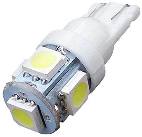 aquiverオートパーツ新しい10 x LED Replacementsマリブランドスケープライト5 LED / SMD電球194 t10あたりt5ウェッジベースクールホワイト12 V DC 1407 WW B07FY7PM8P